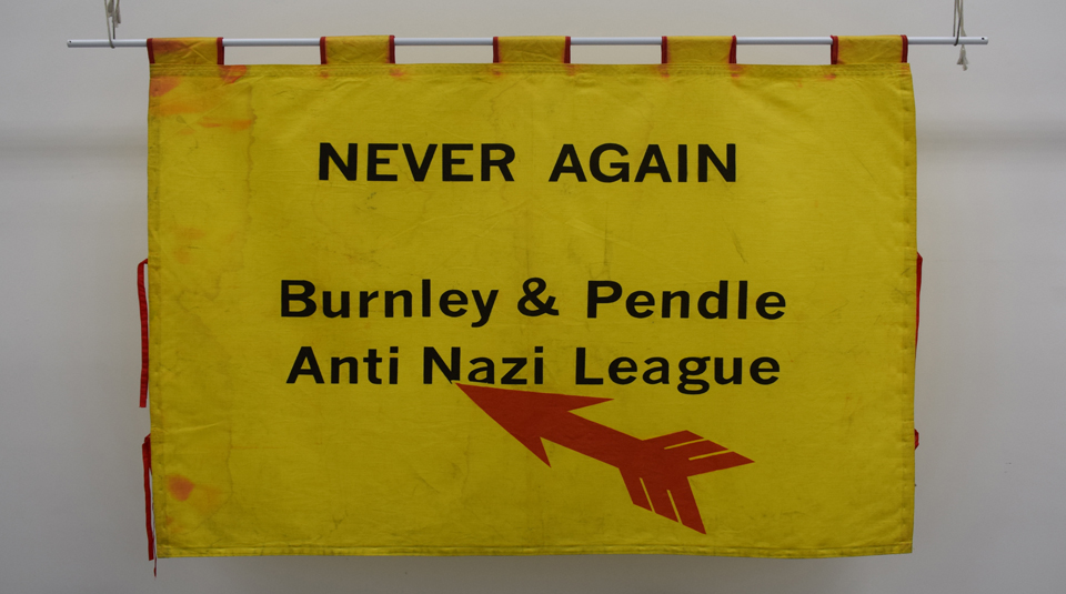 Burnley & Pendle Anti Nazi League (ANL) banner, 2003 © People's History Museum