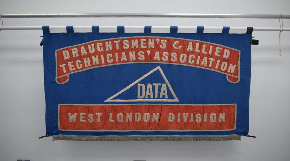 Draughtsmen's & Allied Technicians' Association (DATA), West London Division banner, around 1961 © People's History Museum