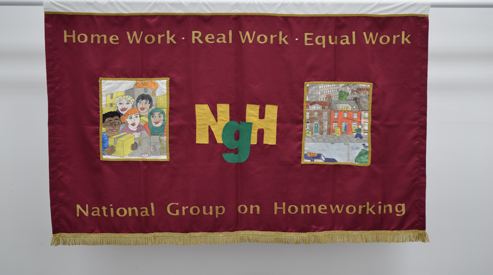 National Group on Homeworking (NGH) banner, 2006 © People's History Museum