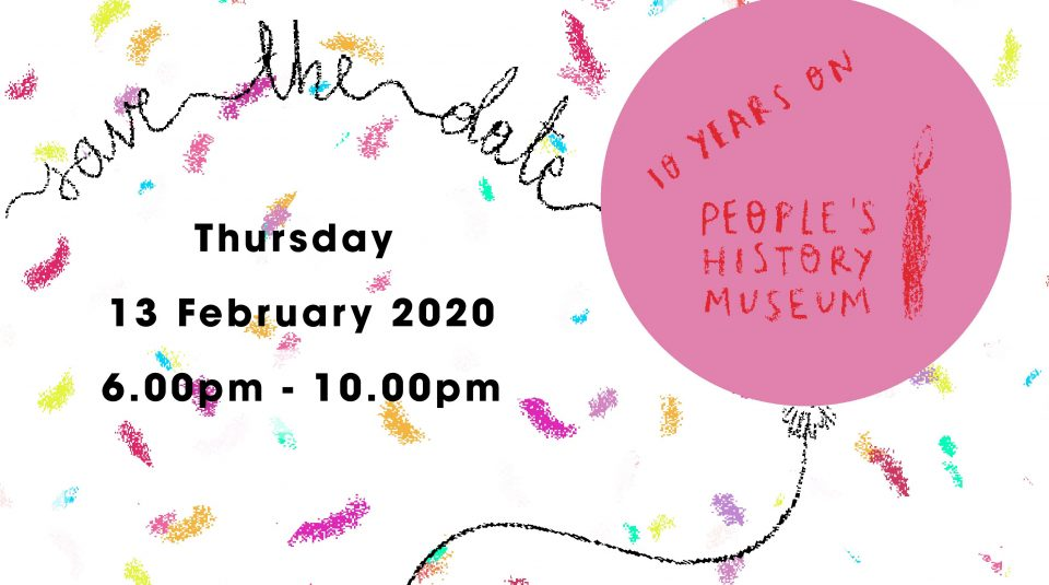 13 February 2020, save the date... @ People's History Museum. Illustration by Danielle Rhoda