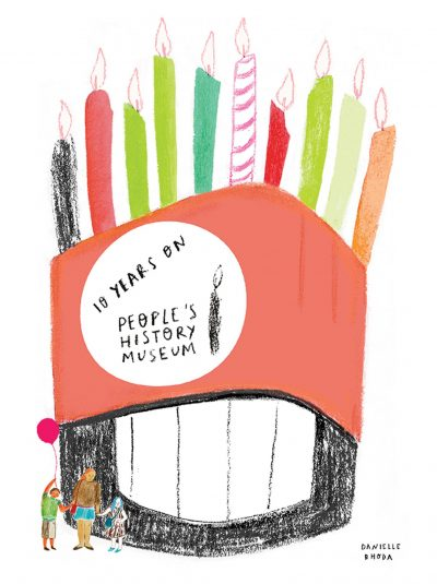 People's History Museum 10 years on. Illustration by Danielle Rhoda