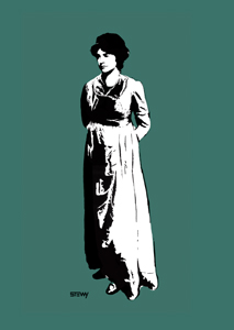 Affrimation Mary Wollstonecraft print © Stewy portrait