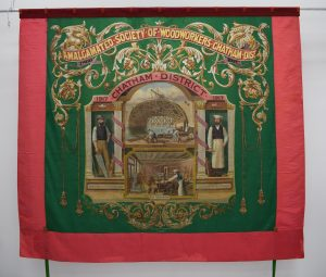 Amalgamated Society of Woodworkers (ASW) banner, Chatham District banner 1899 © People's History Museum