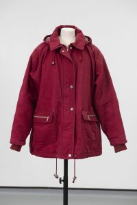 Hayley Cropper's red anorak, around 1998 © People's History Museum