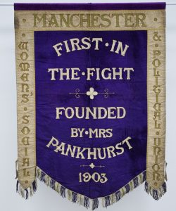 Manchester suffragette banner, 1908 © People's History Museum