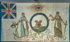 Tin Plate Workers society banner, around 1821 © People's History Museum