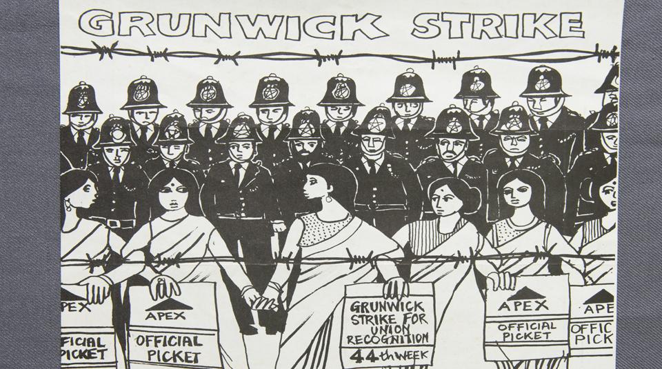 Grunwick strike poster, 1977 © Dan Jones