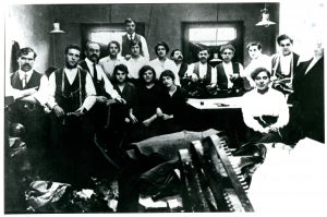 Jewish tailors in a workshop photograph, before 1914 @ People's History Museum