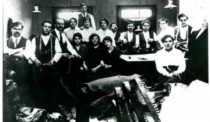 Jewish tailors in a workshop, before 1914 @ People's History Museum