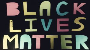 Black Lives Matter poster, 2015, by Rainbow Noir © People's History Museum