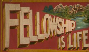 10 September 2020, Heritage Open Days: Virtual Hidden Nature tour. 'Fellowship is Life' mural, unknown artist © People's History Museum