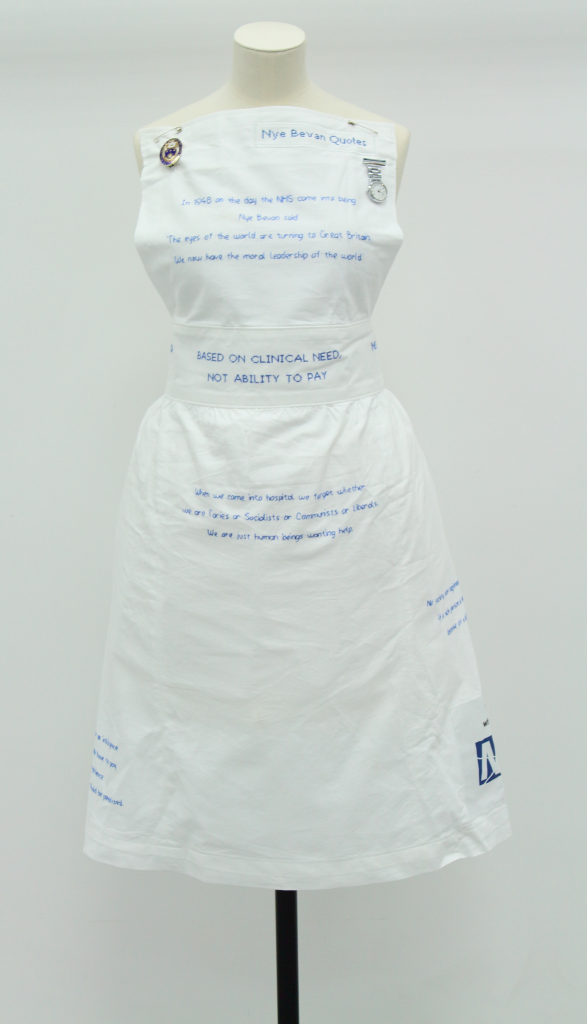 NHS protest apron, 2017 © People's History Museum