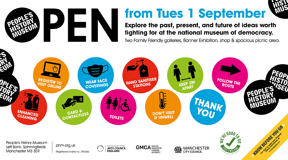 People's History Museum reopening is set for 1st September - PHM Safety Measures