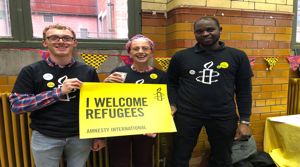 10 December 2020, Meet the activists, Radical Late online with People's History Museum. Photo © Manchester Amnesty