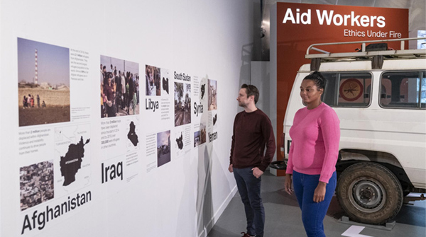 Aid Workers Ethics Under Fire exhibition at IWM North