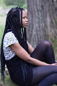 Photo of Mandla Rae, queer Zimbabwean writer, performer and curator © Mihaela Iscru