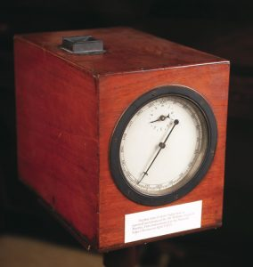Merthyr ballot box, 1869, on display in Main Gallery One at People's History Museum, loan & image courtesy of Cyfarthfa Castle Museum & Art Gallery