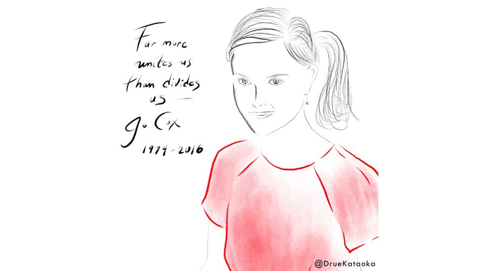 Jo Cox @DrueKataoka, 2016