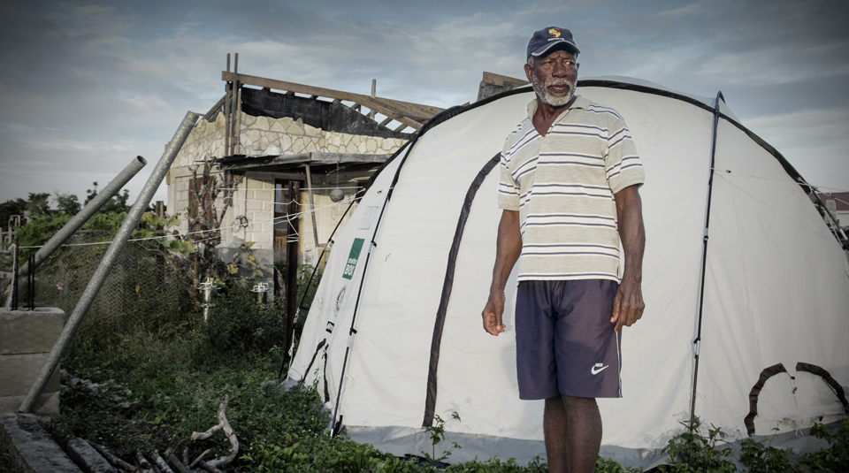 'Staying' put after disaster: life after Hurricane Irma in Barbuda exhibition at People's History Museum. Photo of George Jeffrey © Tamzin Forster