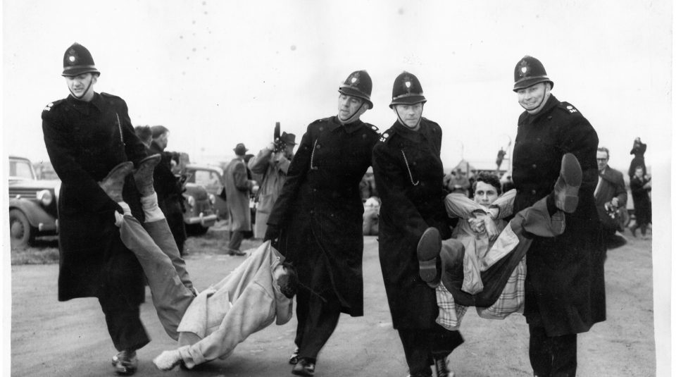 Aldermaston protest,1958. Image courtesy of People's History Museum