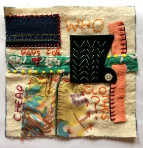 Textile piece @ The Fabric of Protest