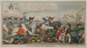 Manchester Heroes print by George Cruikshank, September 1819 © People's History Museum
