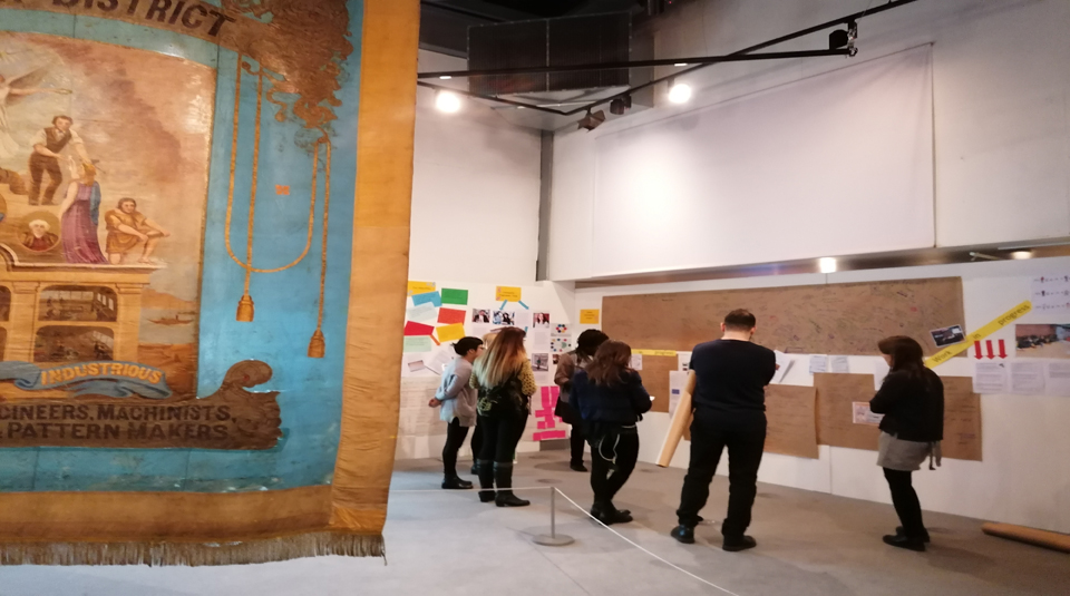 12 August 2021, Radical Late online. Image of Community Programme Team in the main galleries, February 2020, courtesy of People's History Museum