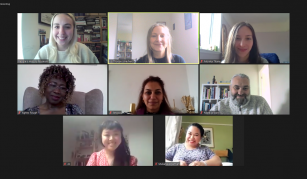 24 July 2021 – 24 April 2022, Migration: a human story, interventions at People's History Museum. Image of Community Programme Team development meeting on Zoom, courtesy of People's History Museum