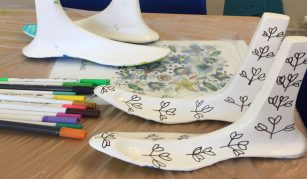Counter-flow Family Friendly workshop: identity feet at People's History Museum