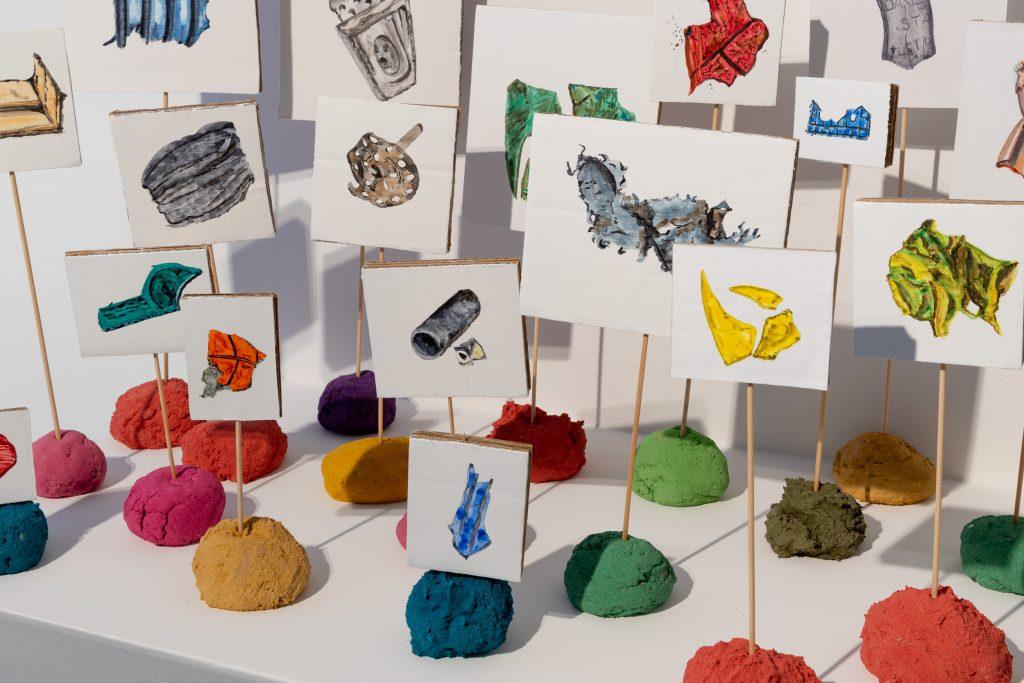 Jane Fairhurst, '...a global seam of plastic...' (2020) details. Mixed media. Image courtesy Jules Lister
