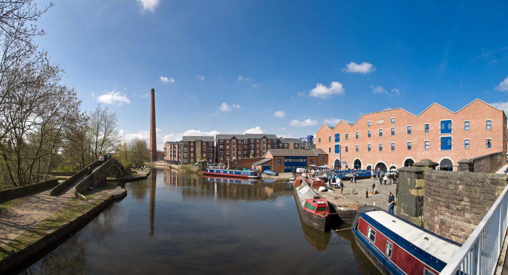 Portland Basin Panorama. Image courtesy of Marketing Manchester