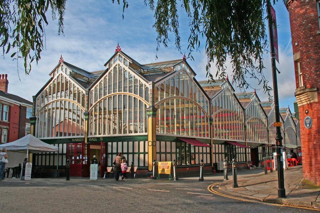 Stockport's old village market. Image www.pinterest.co.uk