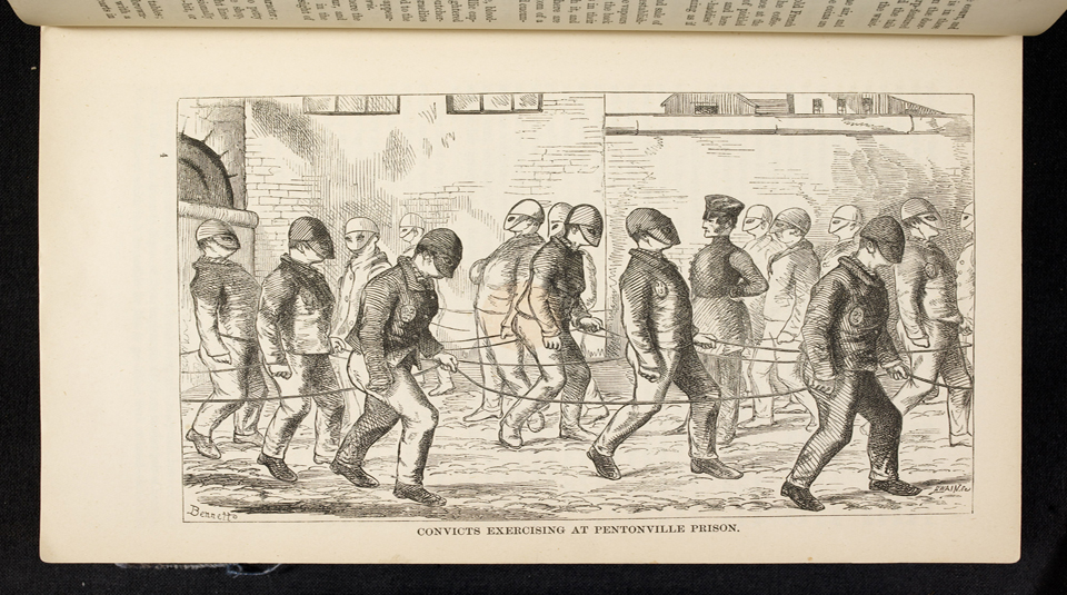 11 November 2021, Conviction Politics! A launch screening and panel discussion, Radical Late at People's History Museum. Convicts exercising at Pentonville Prison, illustration from The Criminal Prisons of London book by Henry Mayhew, 1862. Courtesy of British Library