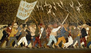 11 November 2021, Conviction Politics! A launch screening and panel discussion, Radical Late at People's History Museum. Photograph of Chartist Mural, Friar's Walk, Newport, Wales, around 2010. Courtesy Newport City Council