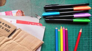 Materials for Doodle Den online with People's History Museum