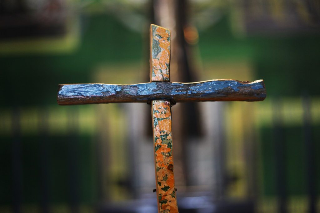 The cross on display in Coventry Cathedral as part of UK City of Culture. Photo Adele Mary Reed (front)