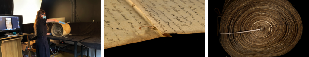 Left to right The Longest Act (Land Tax Commissioners Act, 1821 Roll imaging, details and conservation (c) Parliamntary Archives
