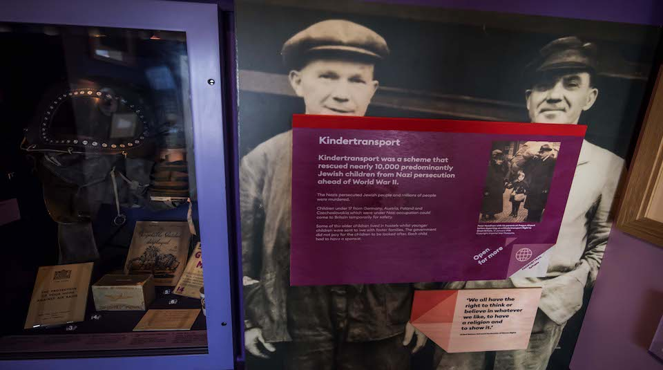 One of the Passport Trail interventions exploring the Kindertransport scheme of 1939