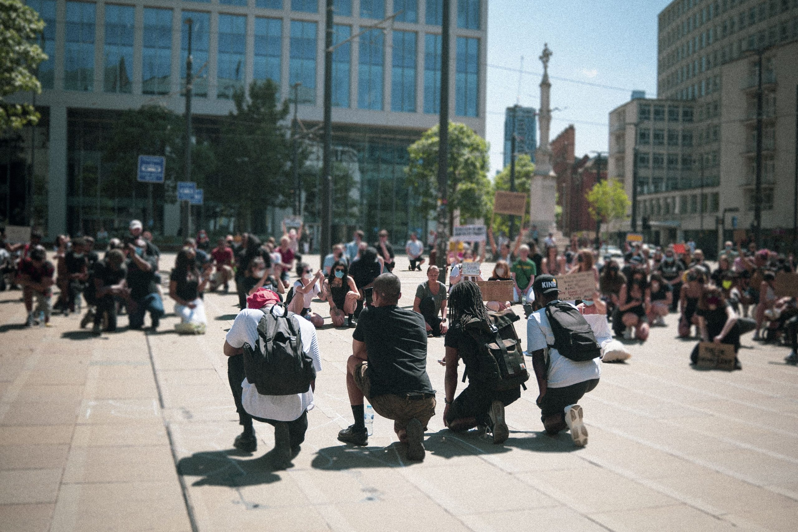 Black Lives Matter protest, Manchester, 31 May 2020, from People's History Museum's collection (C) Jake Hardy