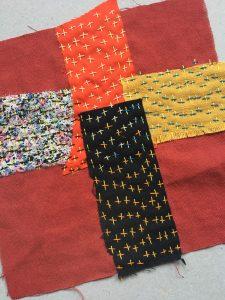 Fabric patchwork cross