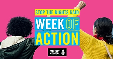 Stop the Rights Raid. Image courtesy Amnesty International